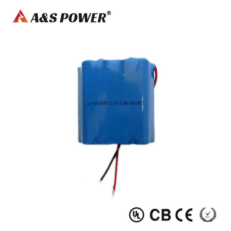 Li-ion 18650 3S3P 11.1v 6.6ah Battery Pack for Led Light
