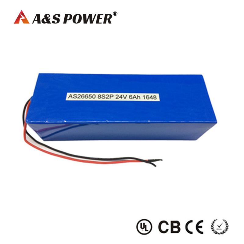 IFR26650 8s2p 24v 6Ah lifepo4 battery pack for backup storage
