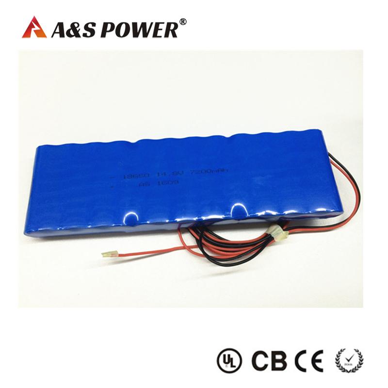 18650 4S3P 14.8v 7200mah lithium ion battery packs factory for led light