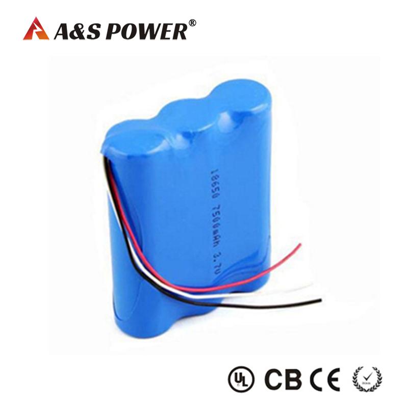 3.7v 7500mah Li-Ion Battery 18650 Lithium Battery Pack For Monitor