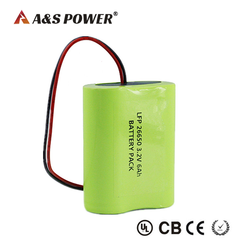 3.2v 6Ah Customized Lifepo4 Battery Pack With PCM