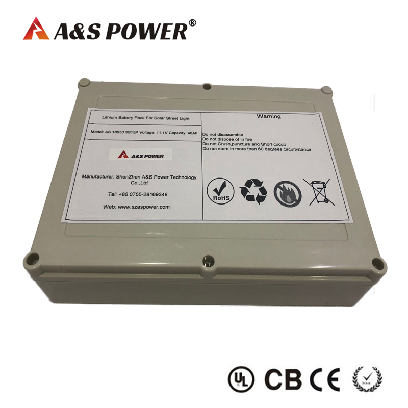 11.1V 40AH 3S15P lithium ion battery