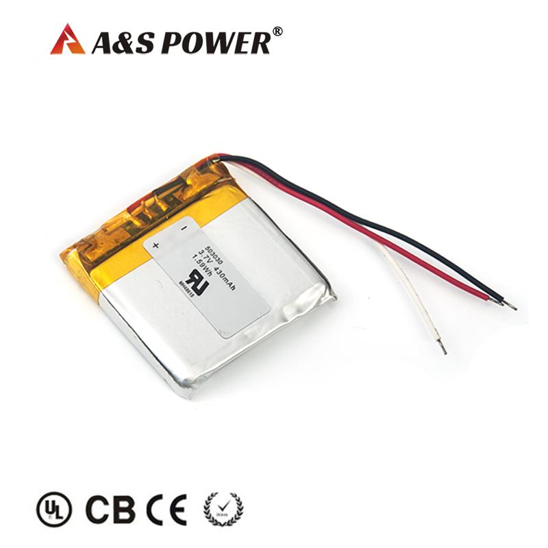 KC Certification approval 503030 3.7v 430mah Lipo Battery