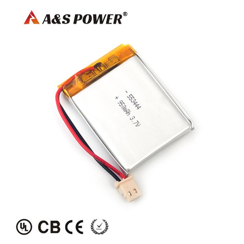 KC 553444 3.7v 950mah lithium polymer battery