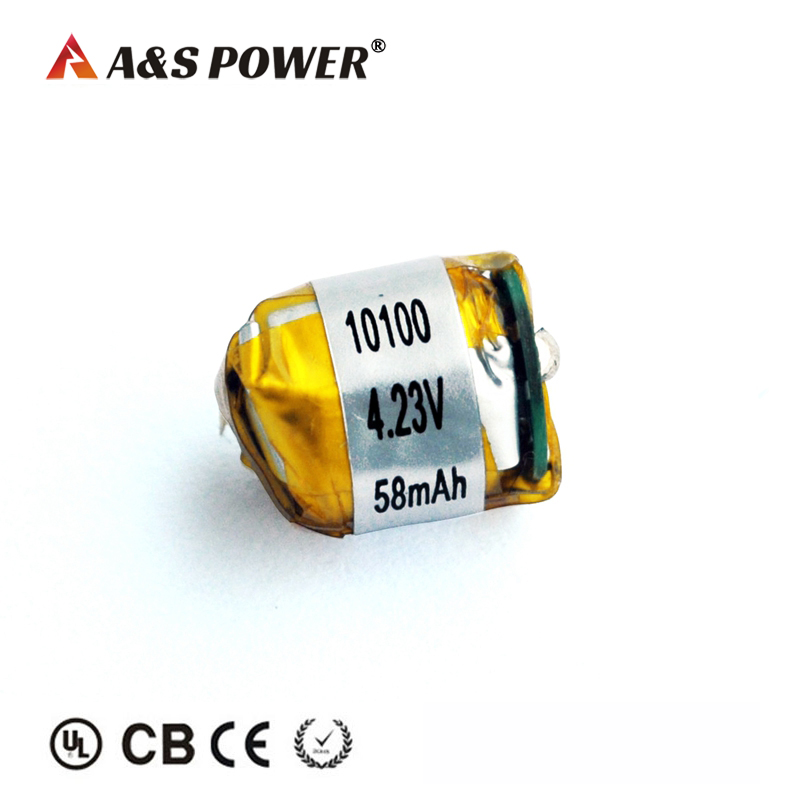 UL CQC 10100 3.7V 60mah Lipo Battery for Bluetooth Headset