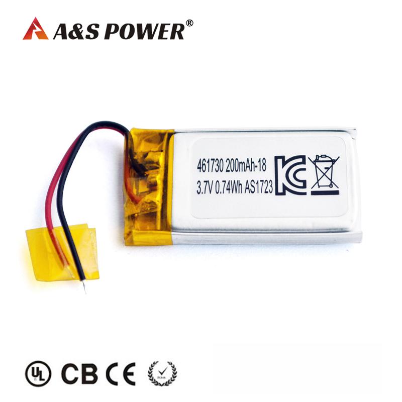 KC certification approval 461730 3.7v 200mah lipo battery
