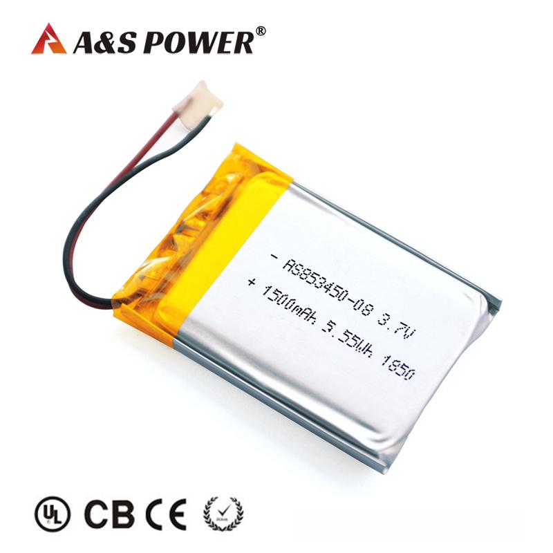 UL/KC/CB Certification approval 853450 3.7v 1500mah lipo battery
