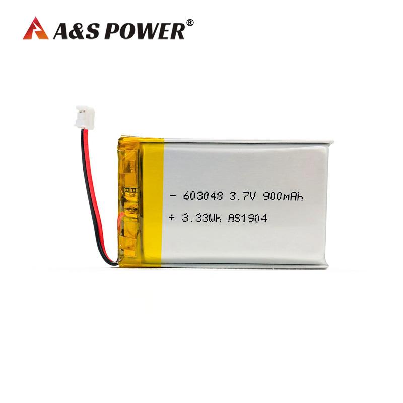 UL/UN/KC certification 603048 3.7v 900mah Lipo Battery