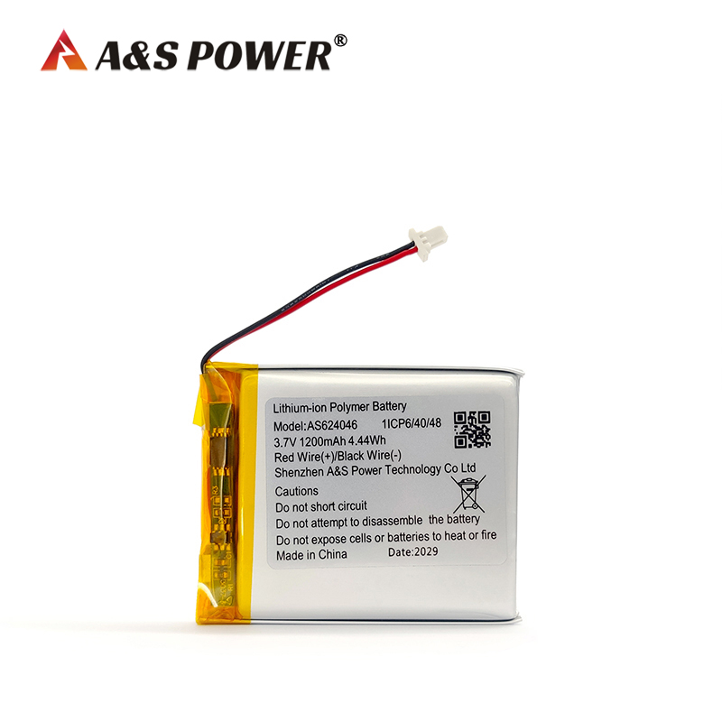 UL/IEC62133 approval 624046 3.7v 1200mah lipo battery