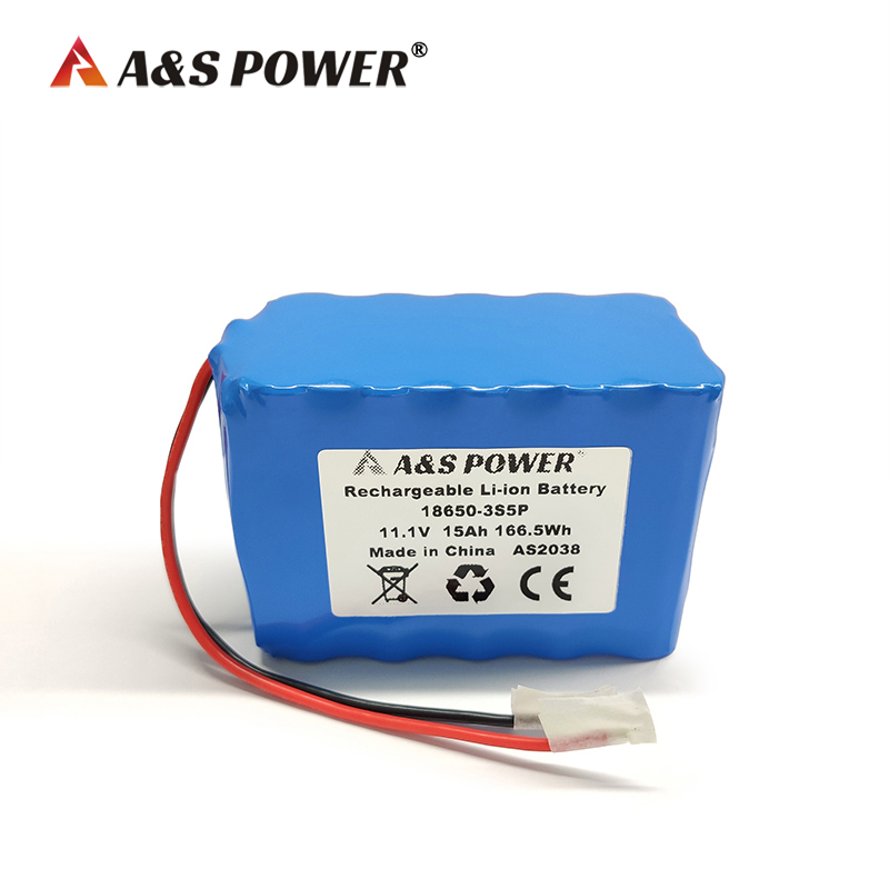 18650 3S5P 11.1v 15ah lithium ion battery with CE/UN38.3 certificate