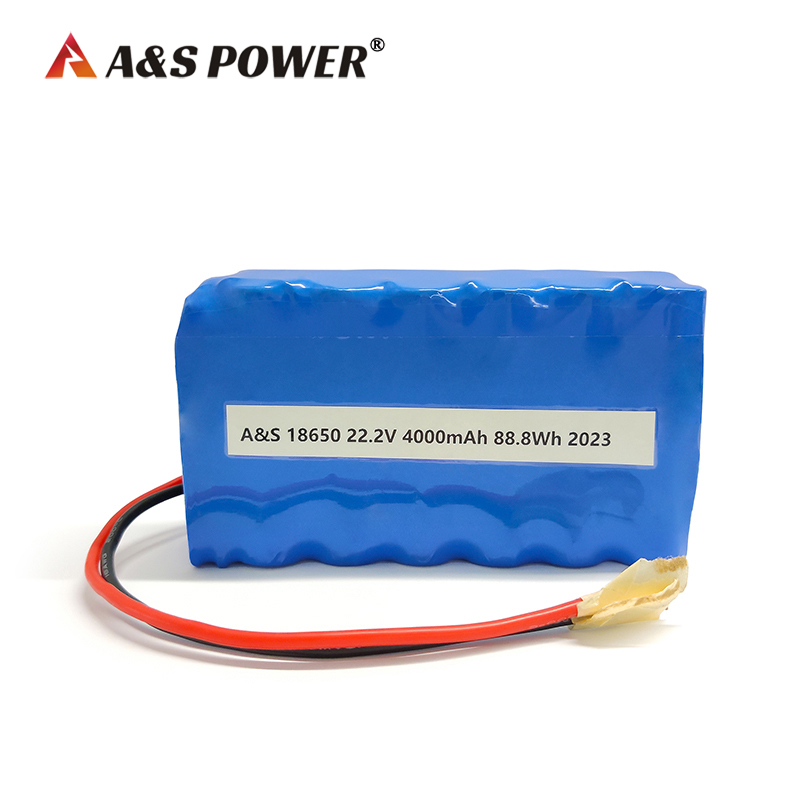 18650 6s2p 22.2v 4Ah lithium ion battery with IEC62133/UN38.3 certificate