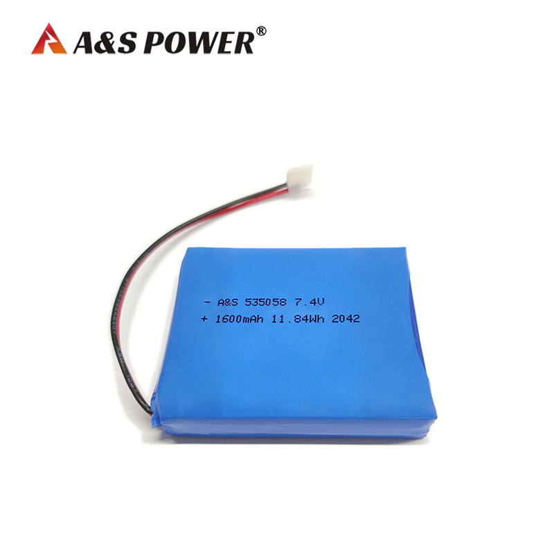 535058 2S 7.4v 1600mAh lithium polymer battery pack