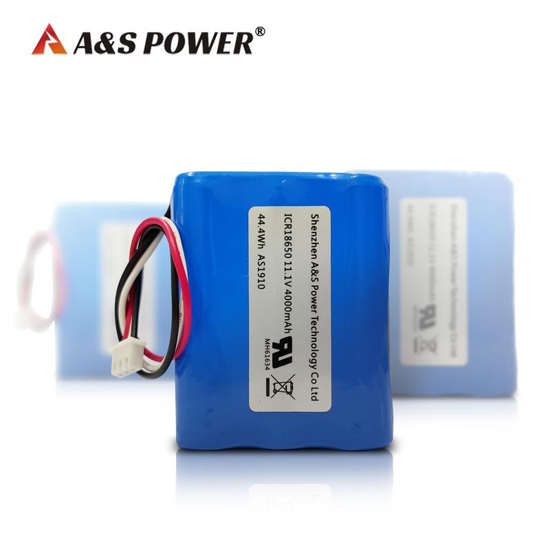 UL2054 certified 18650 3S2P 11.1V 4ah Li-ion Battery Packs