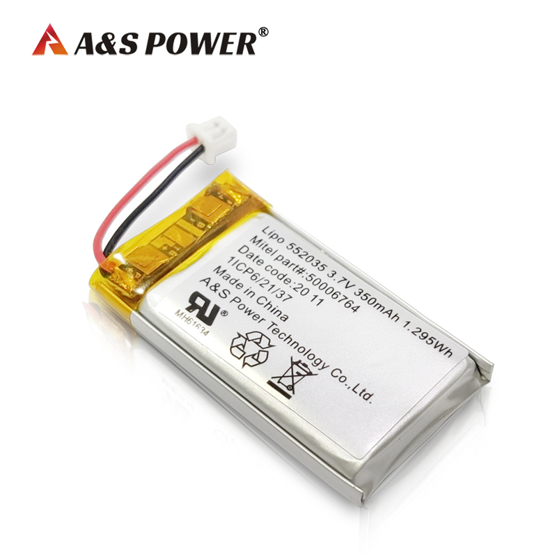 UL2054 /CB /KC 552035 3.7v 350mah rechargeable lithium polymer battery