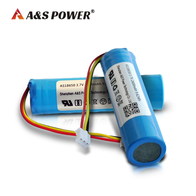 18650 3.7V 2600mAh lithium ion battery with UL2054/CB/KC/BIS certificate