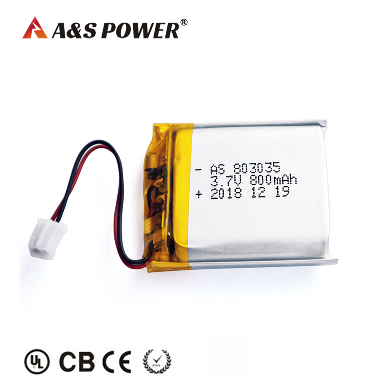 UL2054 KC certified 803035 3.7v 800mah lipo battery