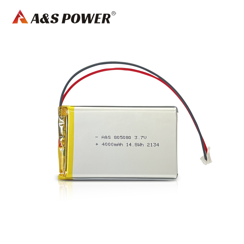805080 3.7v 4000mah lithium polymer battery rechargeable 500 times cycle life